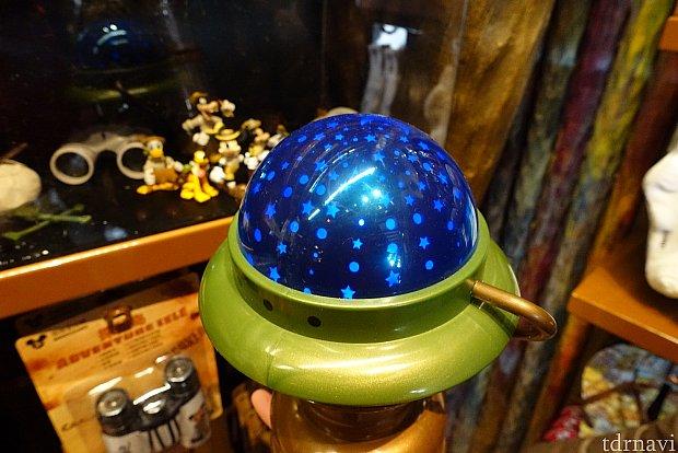 ランプはプラネタリウムみたいに光るようです。