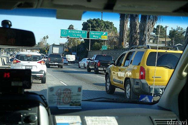 1時間以上は渋滞でした。進んだり止まったり。