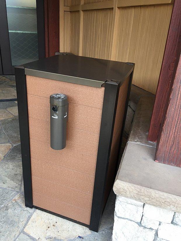 ゴミ箱合体型といえば、上についてるイメージでしたが意外としれっとあります!