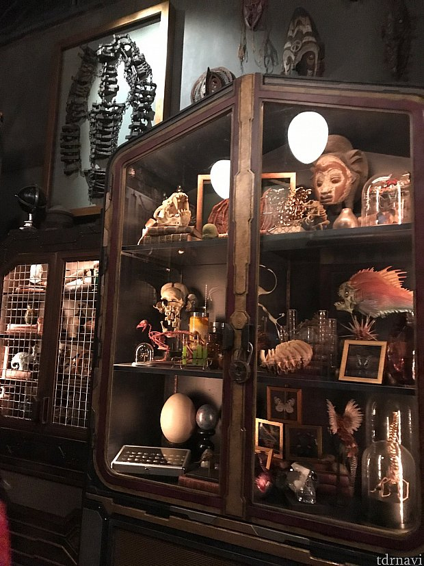 コレクターのオフィスにもたくさんのコレクションが!!左上のはドクターストレンジに出てきた拘束具?!