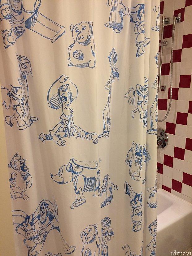 シャワーカーテンもかわいい