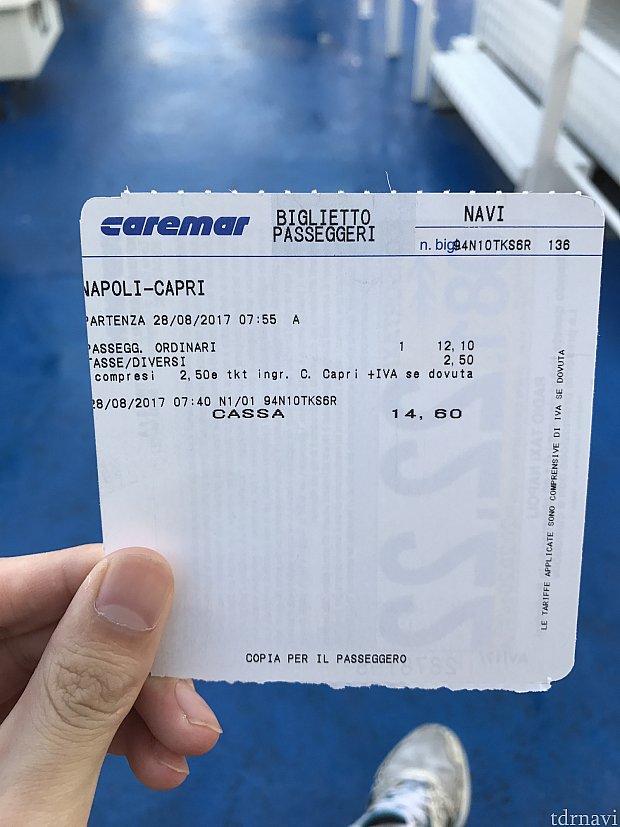 片道1人約15ユーロ。1時間20分で着きました。