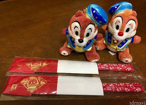 酉年のドナルドがモチーフのお箸。レジで会計の時にもらえます。