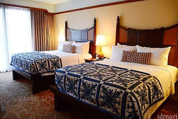 スタンダードビューの2ベッドルームを利用しました。