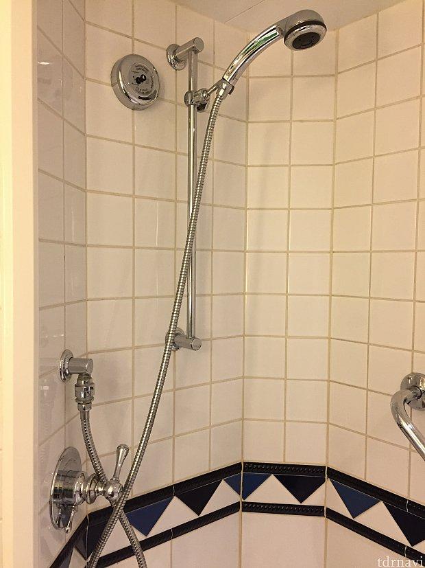 稼働式のシャワー。バスタブもあります!子連れには助かりました!