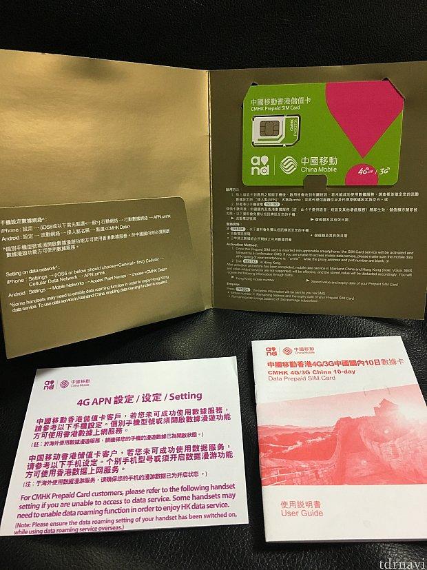 中身はこんな感じで日本語の説明はありません。カードは入る大きさに手で切ります