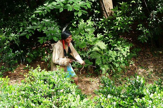 森の中にも注目してると突如インディアンが!