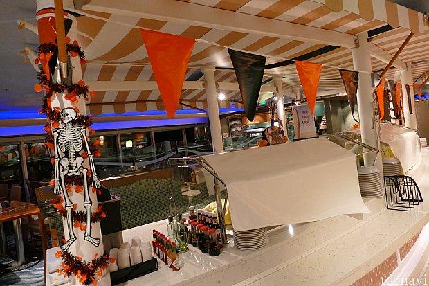 ハロウィンの日はカバナス(レストラン)もハロウィンらしく変身!