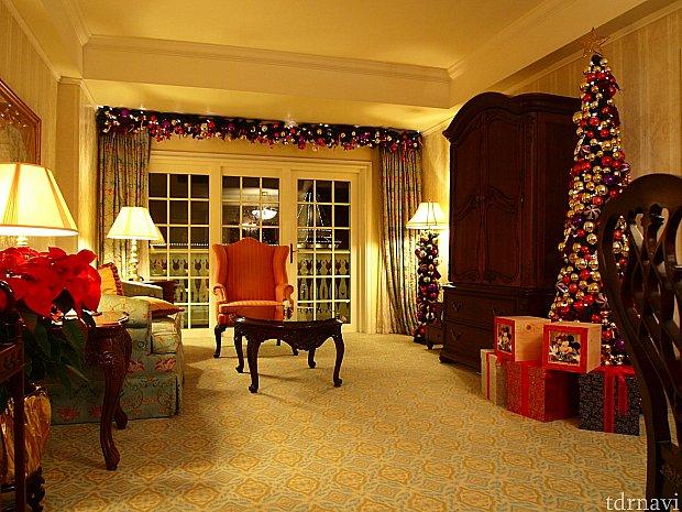 クリスマス飾りが施された素敵なお部屋♡