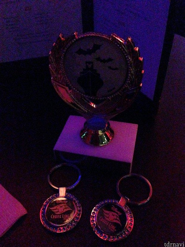 優勝するとトロフィーとキーホルダーのプレゼント
