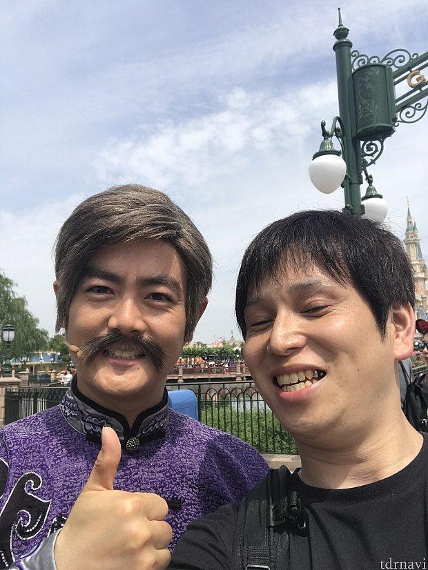 最後、1人でトコトコと歩いていたので師匠さんと写真戴きました笑