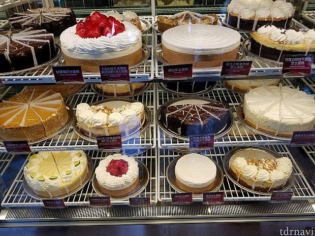 1番人気のチーズケーキは、オリジナル。2位は、ストロベリーだそうです。