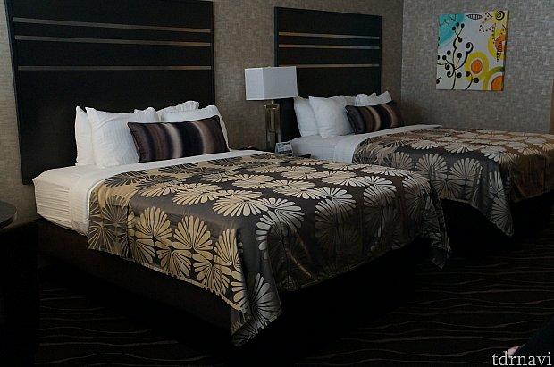 高さのあるベッド。ベッドマットはとっても寝心地が良かったです。