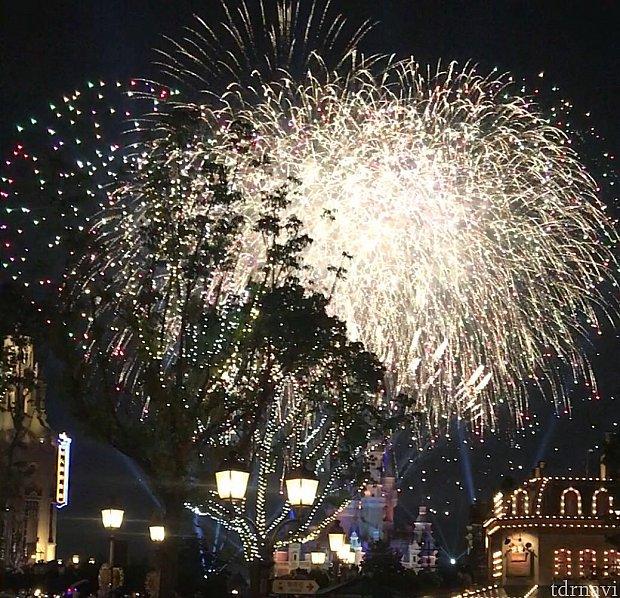 遠くからでしたが花火の素晴らしさ、パークの雰囲気にジーンときました😭