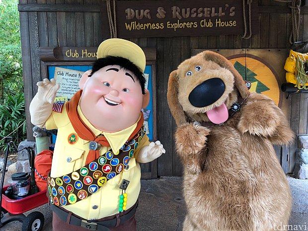 ラッセルとダグ。 今はペアでグリしているようでした。