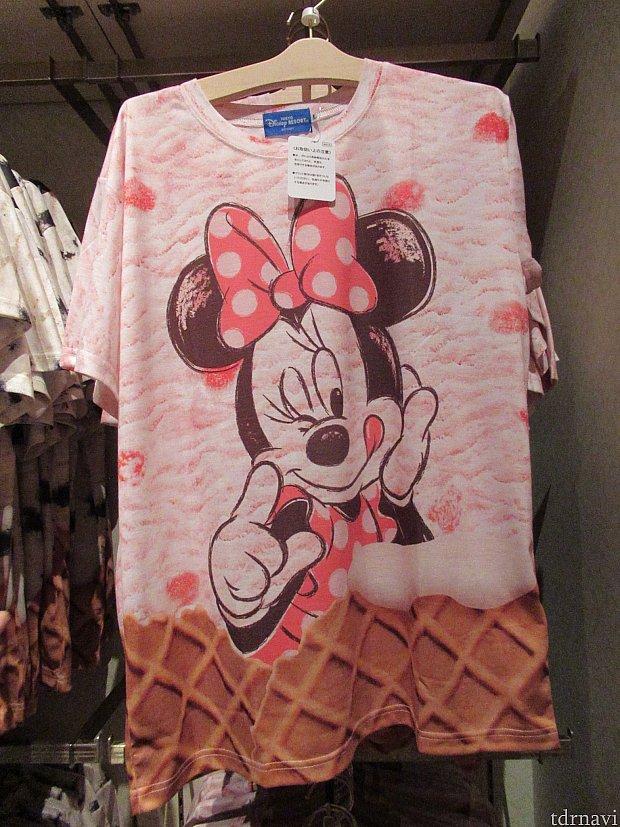 ミニーアイスクリームTシャツ 3900円