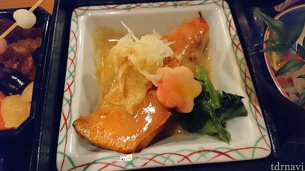金目鯛と大根の諸味醤油バターです。ソースが濃厚で美味しかったです!