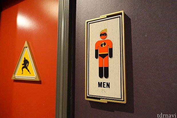 トイレのサインがMr.インクレディブル!