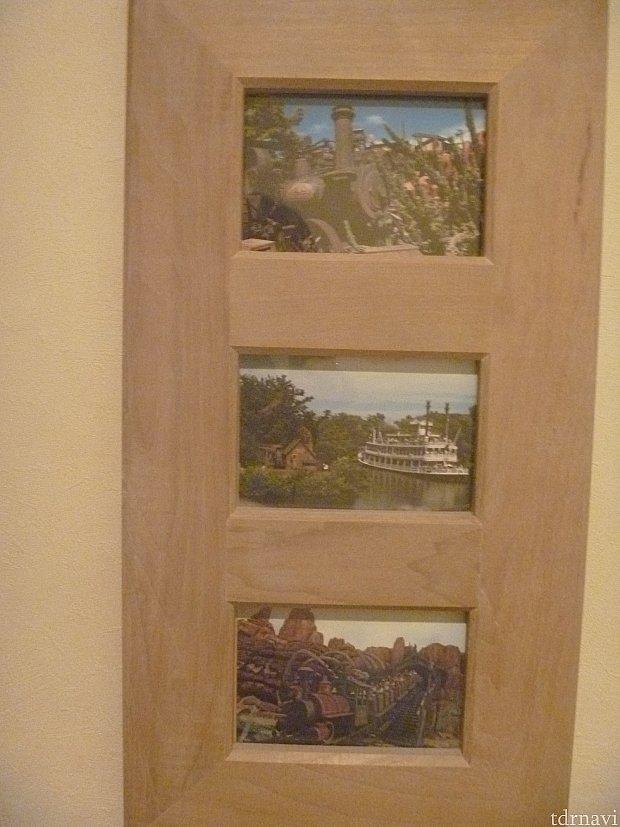 フロンティアルーム内です。ランドの写真が飾ってありました☆