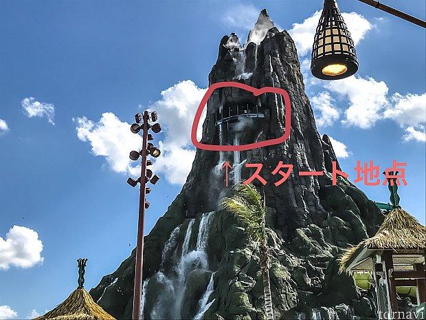 スタート地点は火山の頂上です!