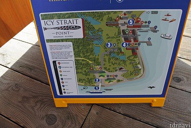 地図をもらわなくても街の看板が置いてありました。