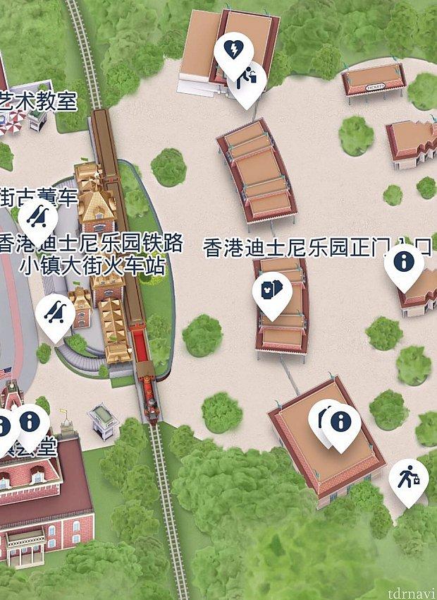 ゲストリレーションはチケットブースからみて一番左にある建物になります。