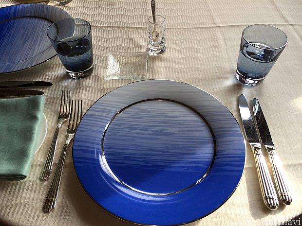 きれいなブルーのお皿