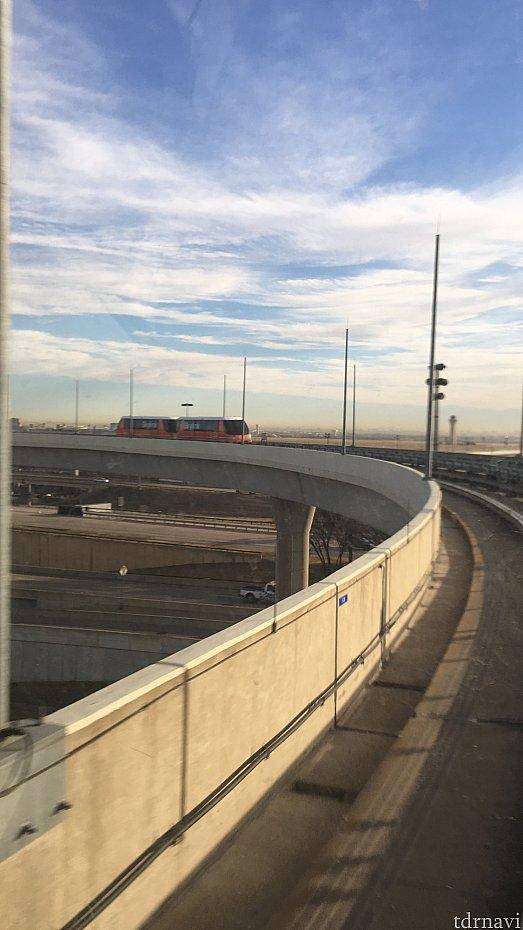 モノレールでDターミナルからCターミナルに移動しました!