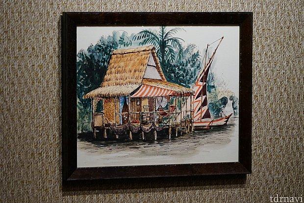 この絵画の建物、フロリダで見たような・・・?