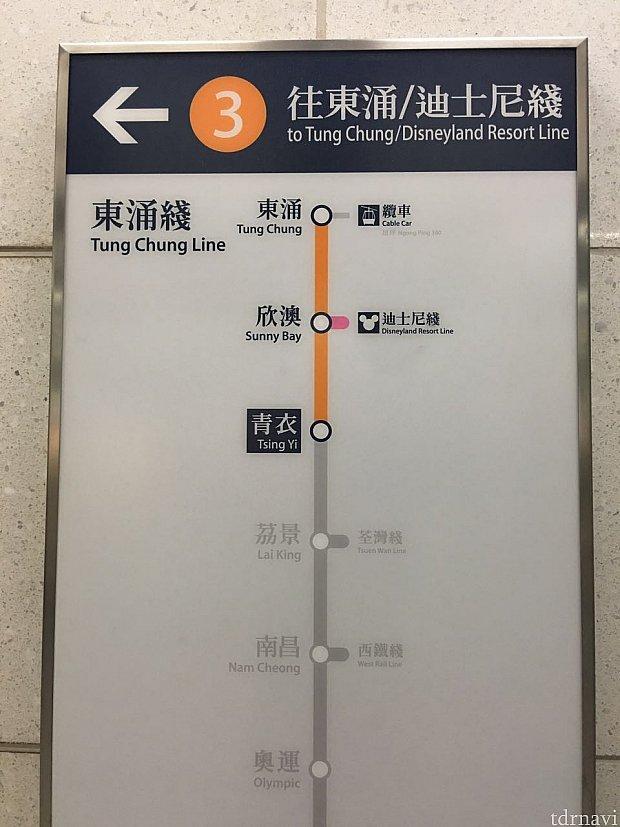 """目的地はとなりの駅""""欣澳""""です。"""