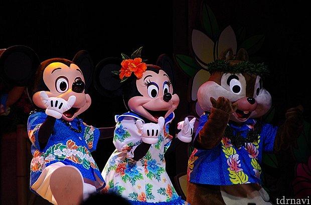 ハワイアンな衣装がかわいい