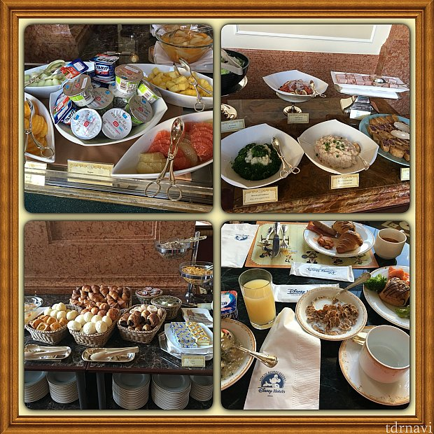 コンチネンタルブッフェ朝食です!ドリーマーズラウンジにて。