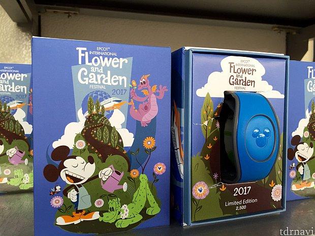 フラワー&ガーデン限定デザインのマジックバンド。もちろんイベント期間終了後も使えます。