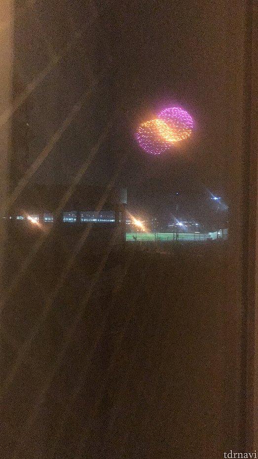 部屋から花火が見えました🎇 本館宿泊時