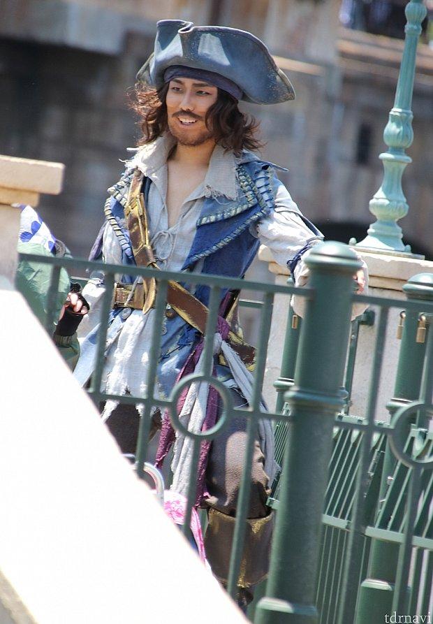 リドアイルの車椅子エリアに海賊スタンバイ。