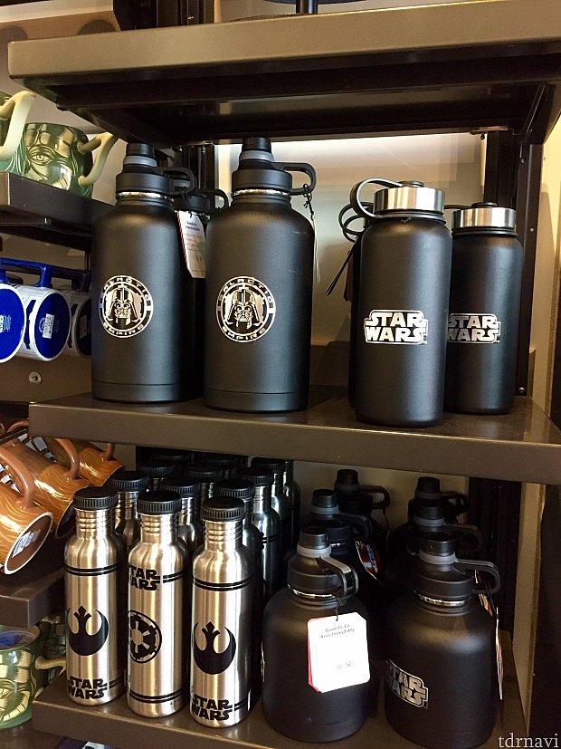 ウォーターボトルも数種類あります。