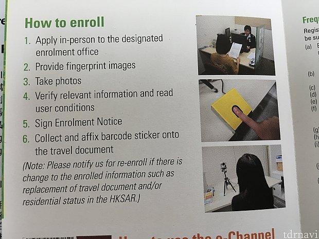 こちらは窓口での登録方法。ちょっとした小部屋で登録が行われます。英語が不慣れでも問題なく登録できました