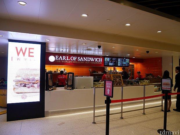 こちらはロサンゼルス国際空港のアールオブサンドイッチ 営業時間は7時から22時まで