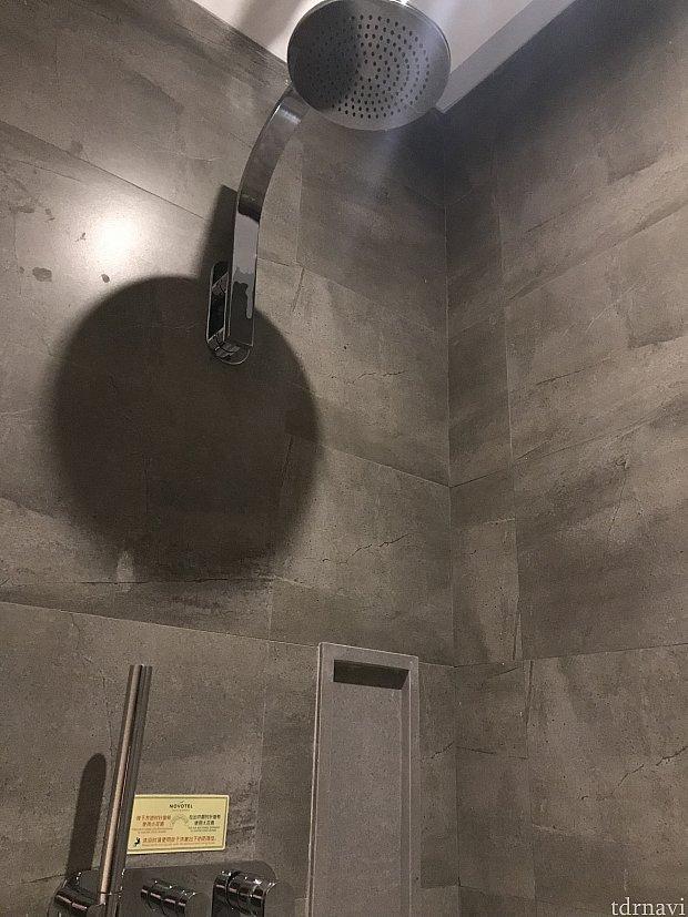 下の方の棒が可動式のシャワーヘッドです。