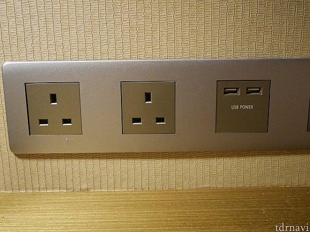 テーブル側にも電源があります。電源の数は多め✨カメラや携帯、Wi-Fiなど旅行では充電するものが多いのでこれはありがたい😌
