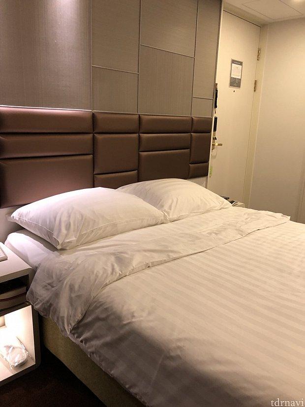 部屋はジャストサイズ。綺麗です。