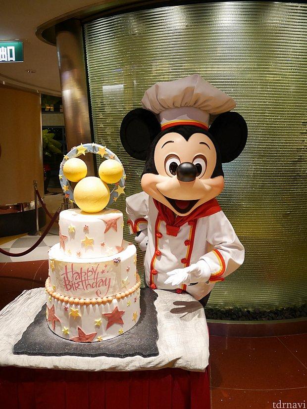 誕生日の人がいるとシェフがお手製のケーキを出してくれます(≧▽≦)