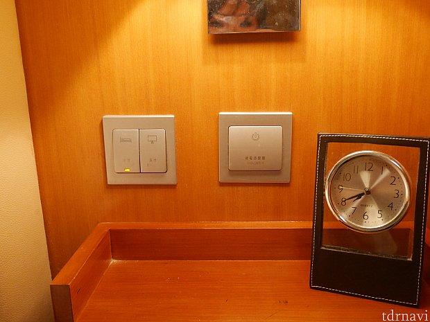 枕元のスイッチで色んな場所の電気の操作ができて便利でした✨