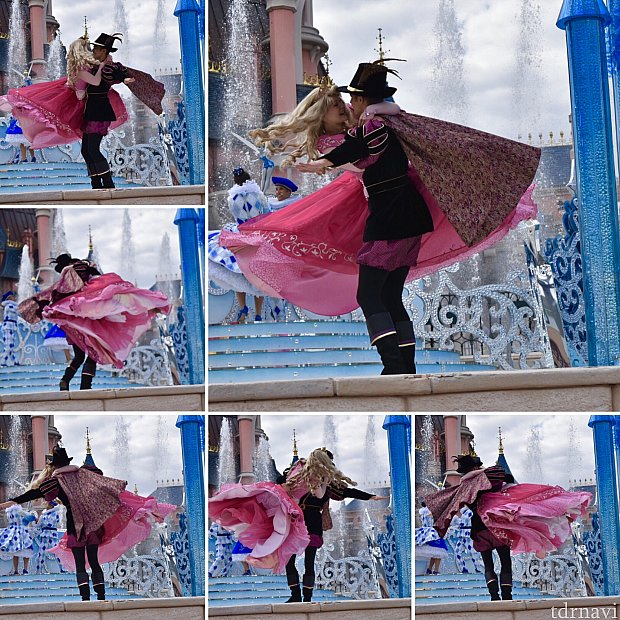 フィリップの素敵な登場シーンの後、オーロラとフィリップの素敵なダンスにほれぼれ♡