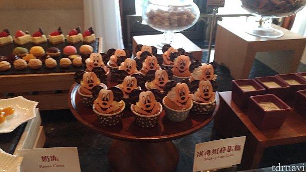 ラウンジにあったミッキーのカップケーキがかわいい!