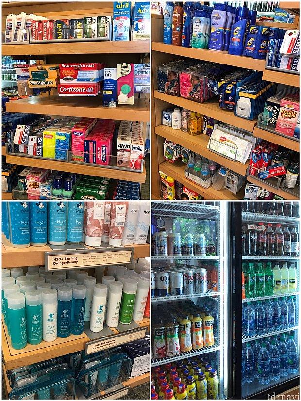 薬や日用品、H2O商品、飲み物も売ってます♪