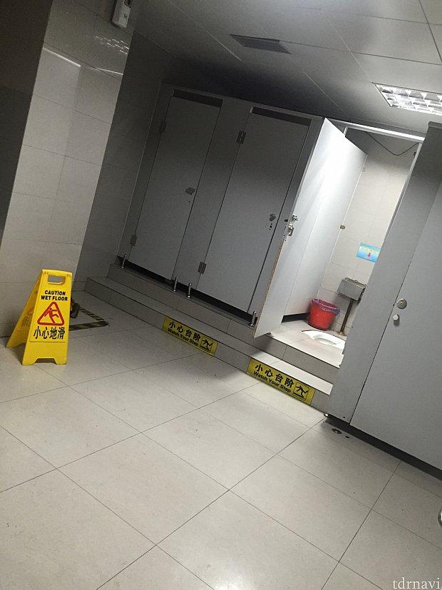 ちなみにですが……市内の駅のトイレの様子です。きちんと洋式もありました。