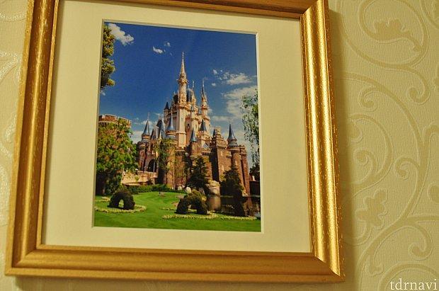 お城の写真。