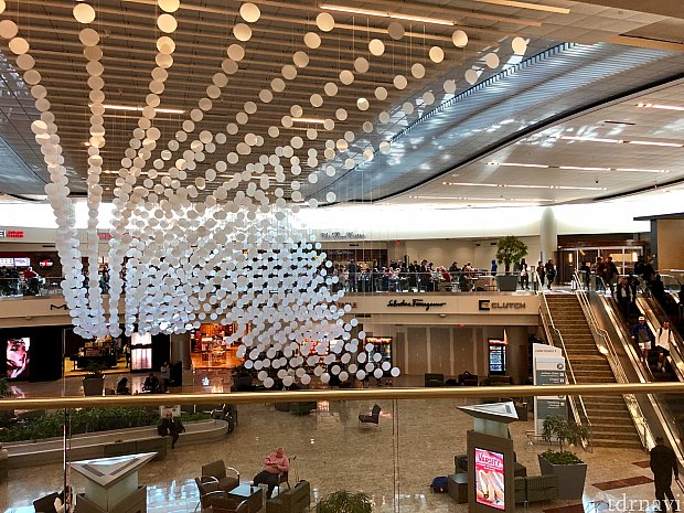 アトランタの国際線ターミナル内。この後もアトランタでラウンジを利用しましたが、料理も大したモノが無く、混雑して騒がしく、ラウンジを利用する良さが全く感じられず…
