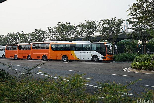 バスはいっぱいありました。